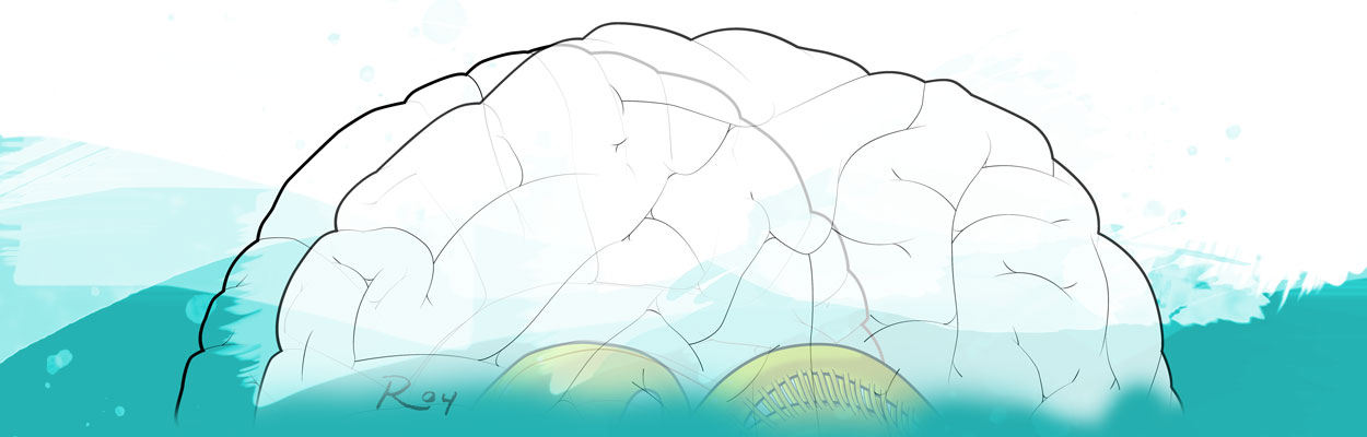 Roy Biomedical Illustration Brain Banner