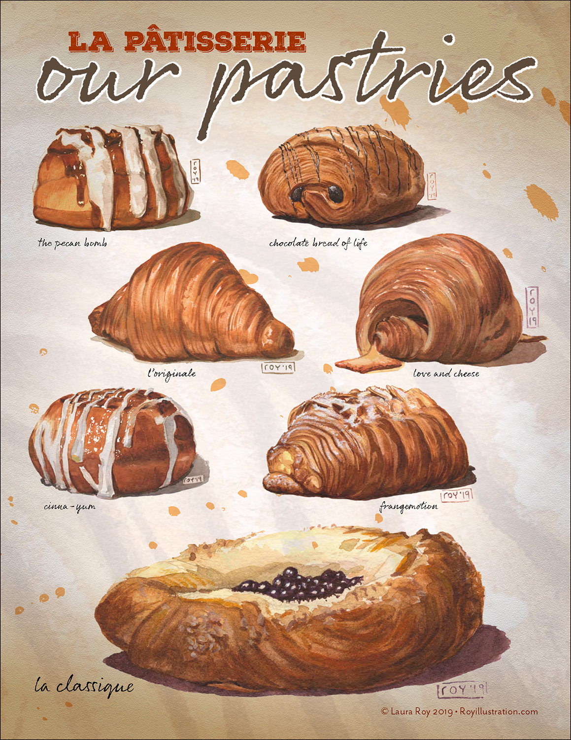 pastries Laura Roy Illustration