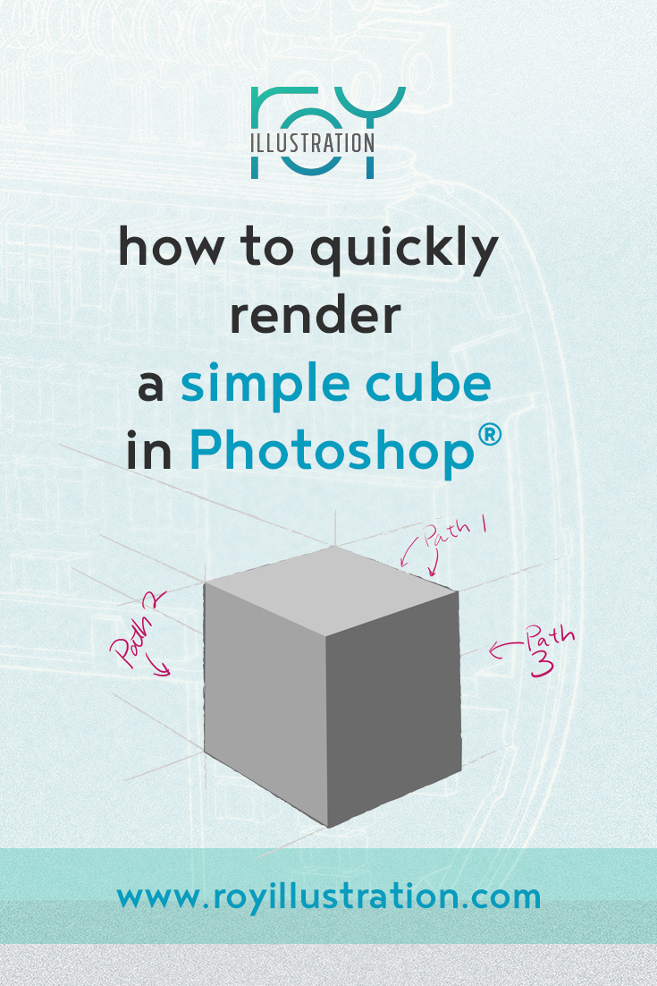 Quick & Simple Cube Rendering In Photoshop