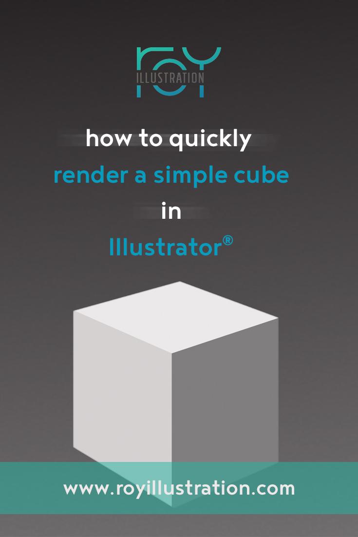 Quick & Simple Cube Rendering In Illustrator