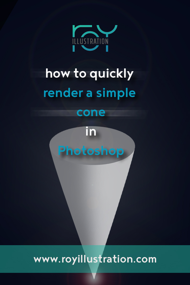 Quick & Simple Cone Rendering In Photoshop